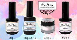 Steps for dip powder nails oh blush