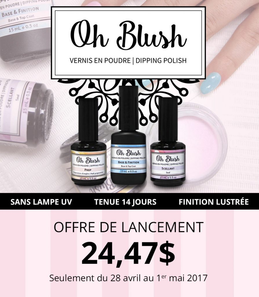 lancement oh blush vernis en poudre